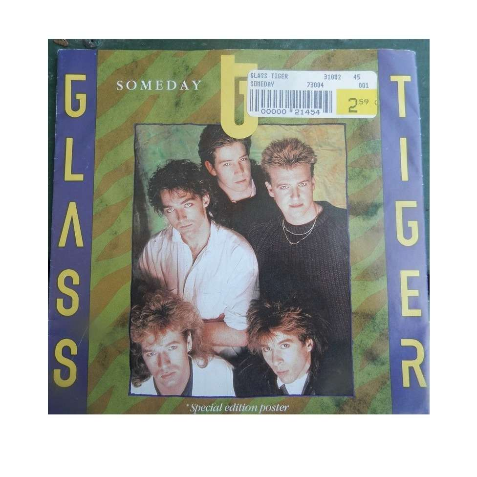 glass tiger SOMEDAY/VANISHING TRIBE poster sleeve