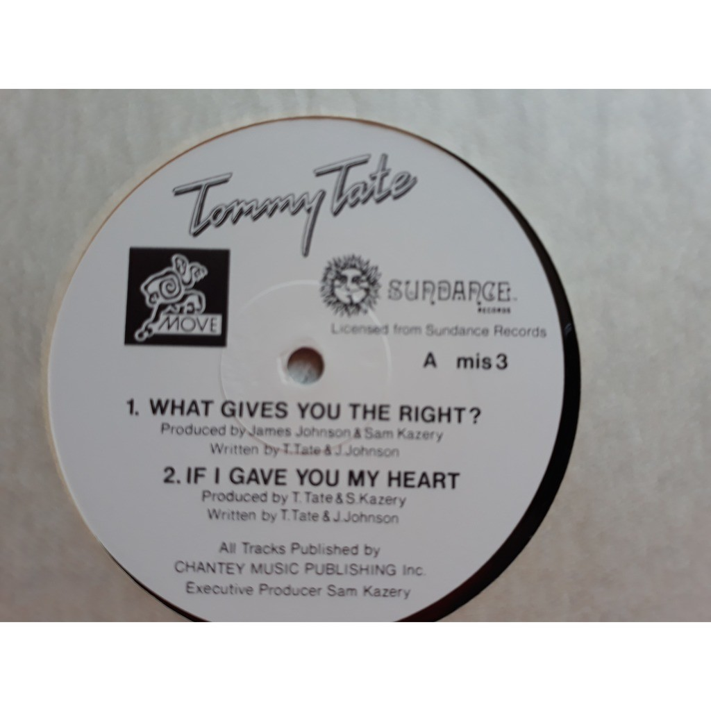 Tommy Tate - What Gives You The Right EP (12, EP) Tommy Tate - What Gives You The Right EP (12, EP) 1980S