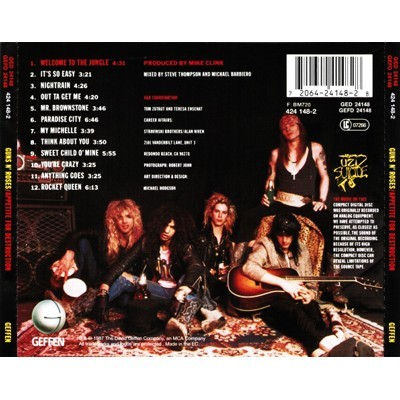 Appetite For Destruction By Guns N Roses Cd With