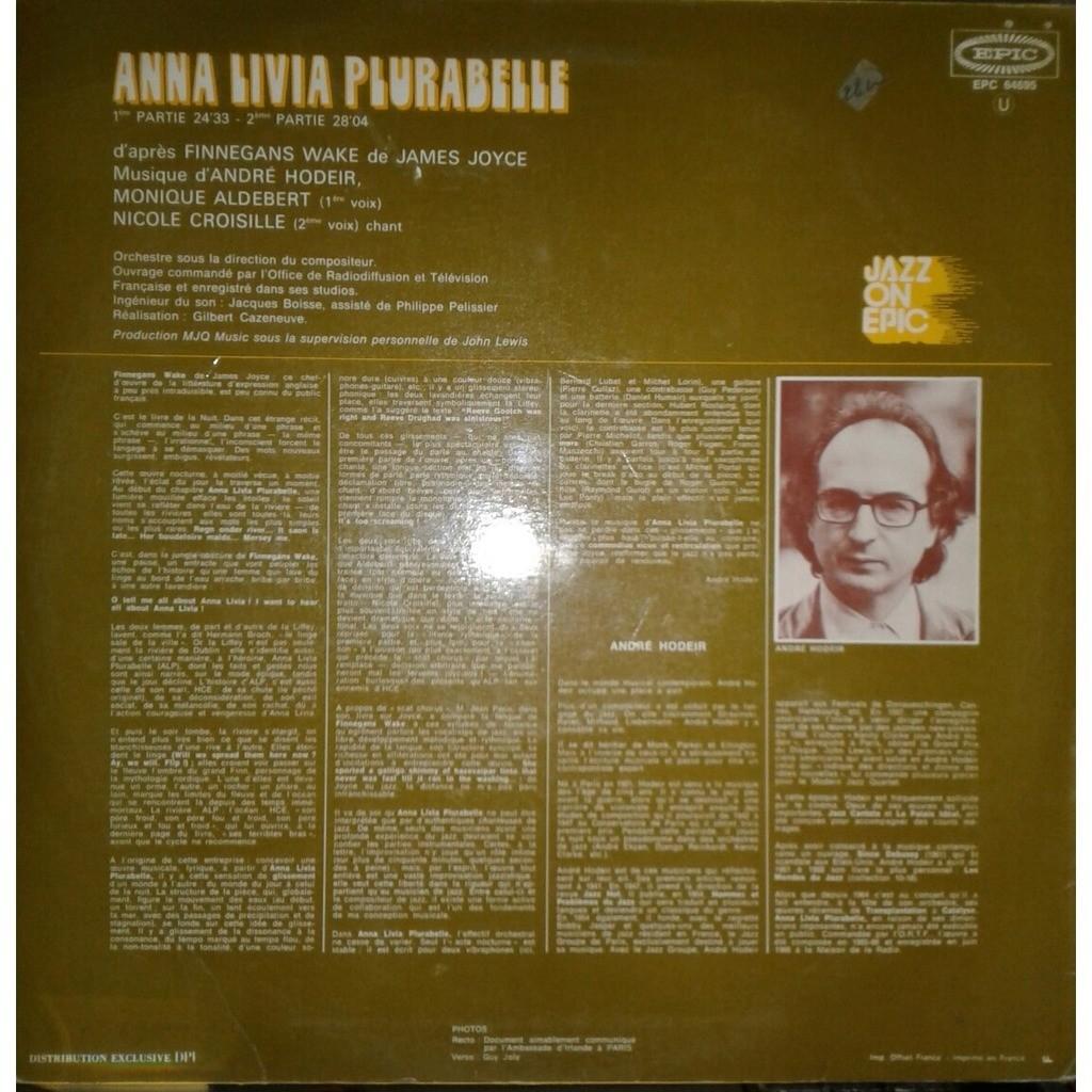 ANDRE HODEIR anna livia plurabelle