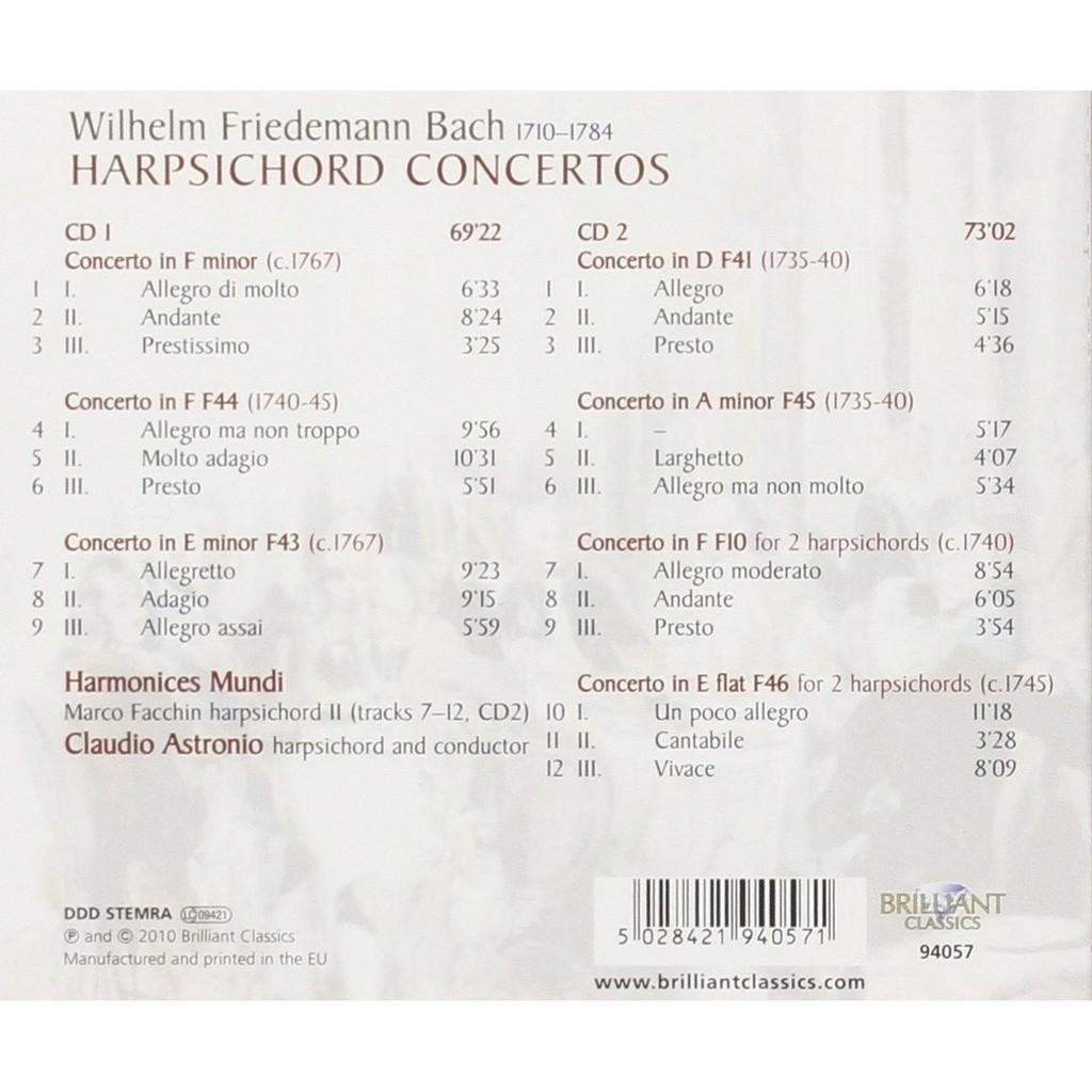 Harpsichord concertos / claudio astronio, marco facchin, harmonices ...