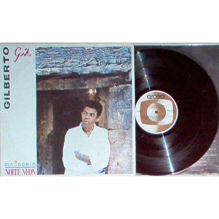 Gilberto Gil Dia Dorim Noite Neon (Italian 1986 original 10-trk LP on Globo lbl full ps+inner slv!)