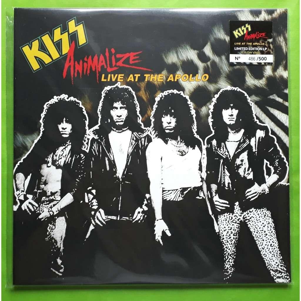 Animalize Live At The Apollo Limite Edition Album Yellow