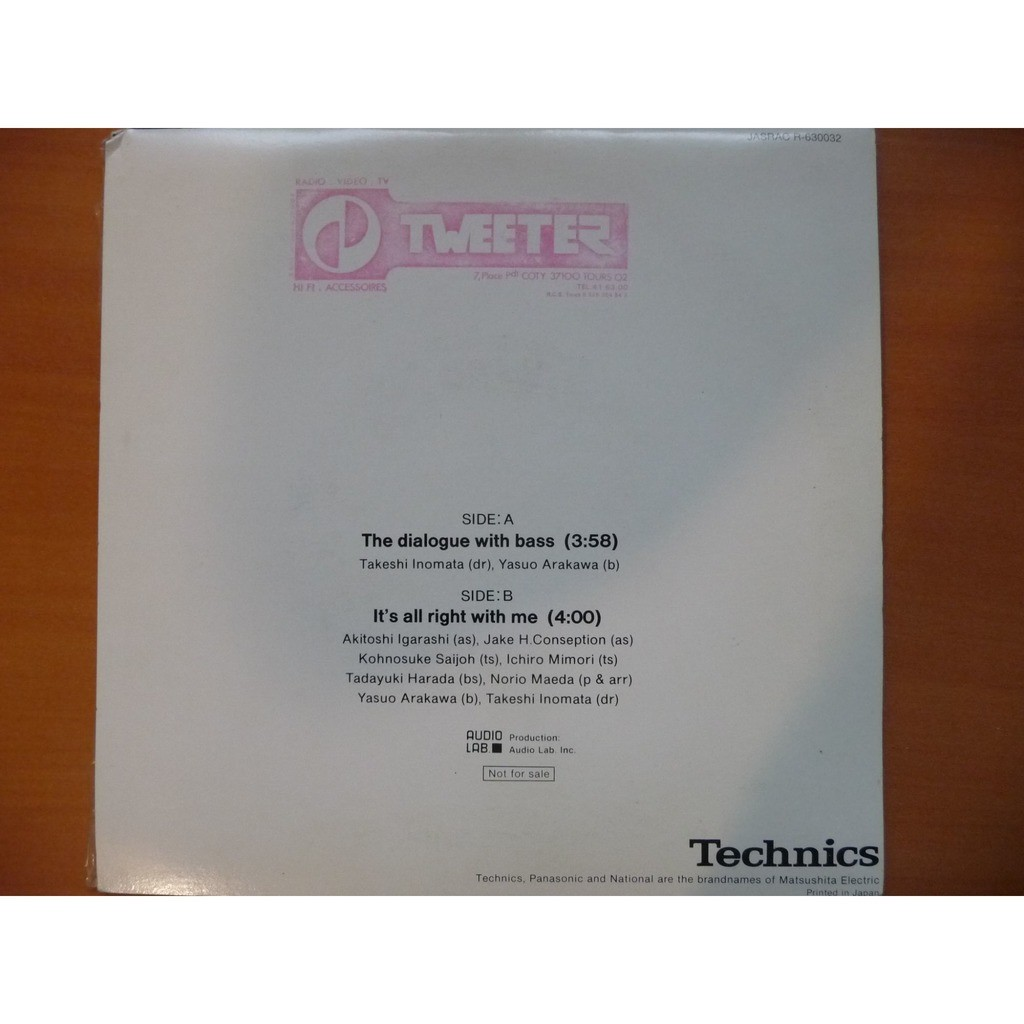 technics encoded disc the dialogue with bass / it's all right with me