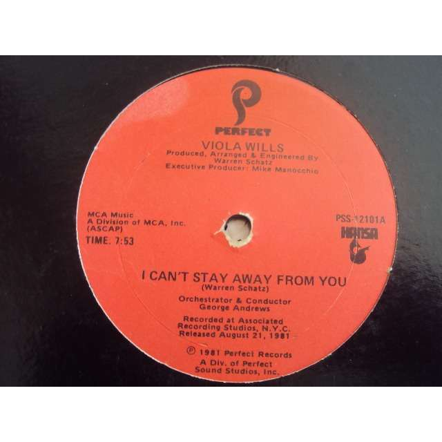 Viola Wills I Can't Stay Away From You (Vocal 7'53) 1981 USA (MAXIBOXLP)
