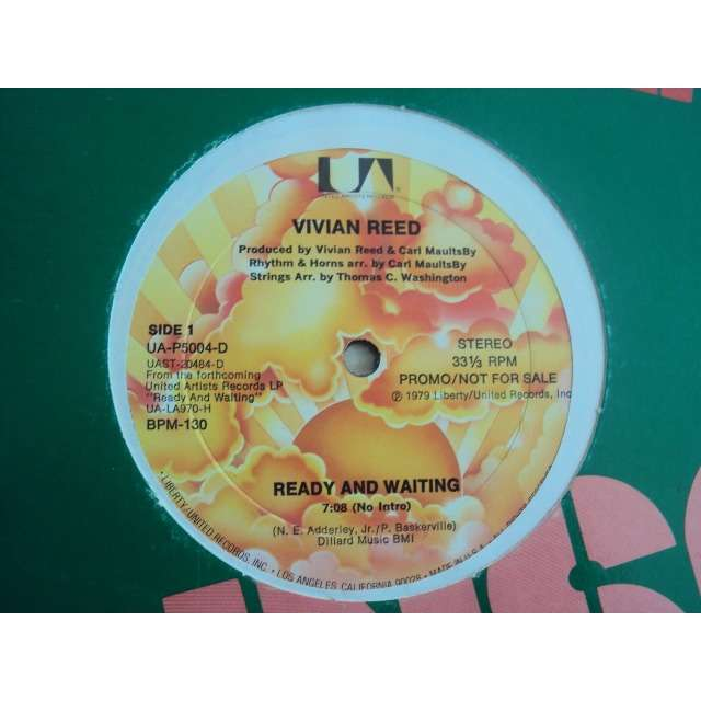 Reed, Vivian Ready And Waiting (Vocal 7'08) 1979 USA PROMO COPY (MAXIBOXLP)