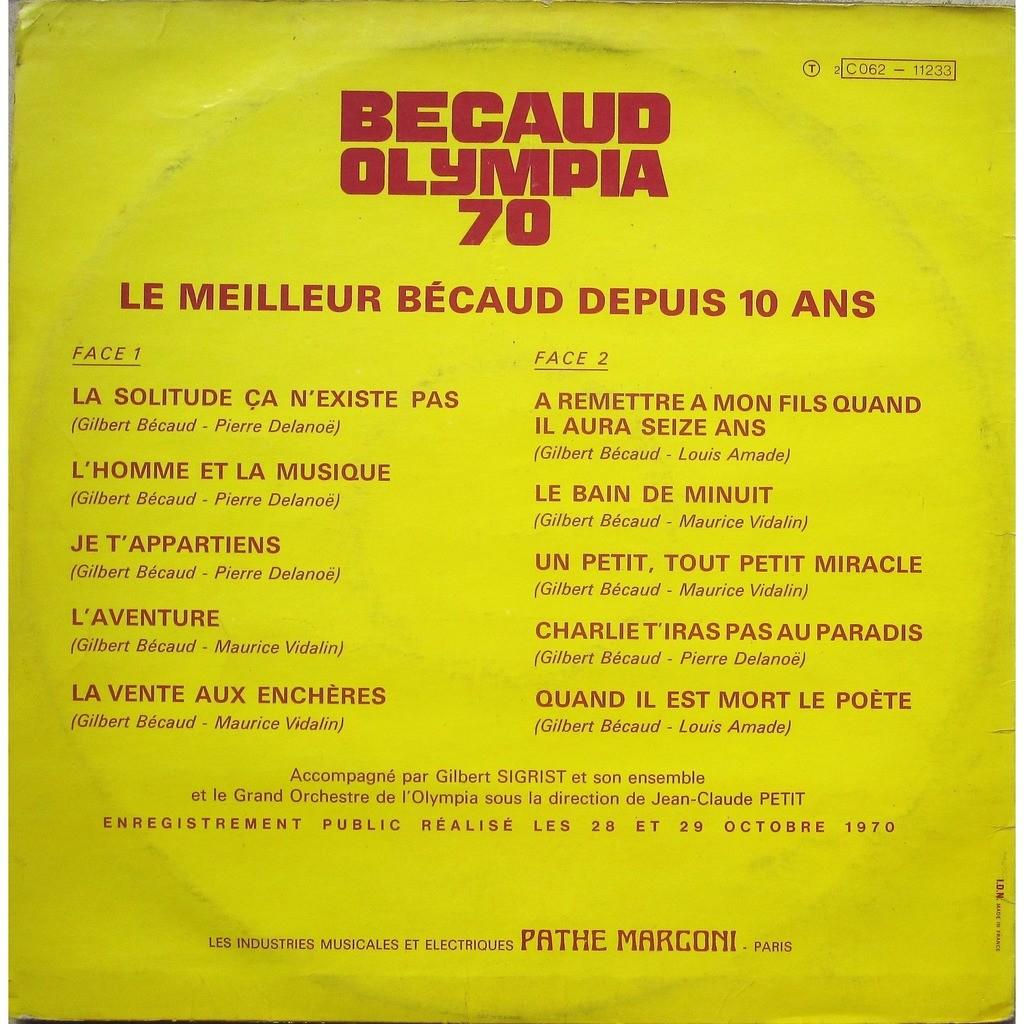 gilbert becaud olympia 70