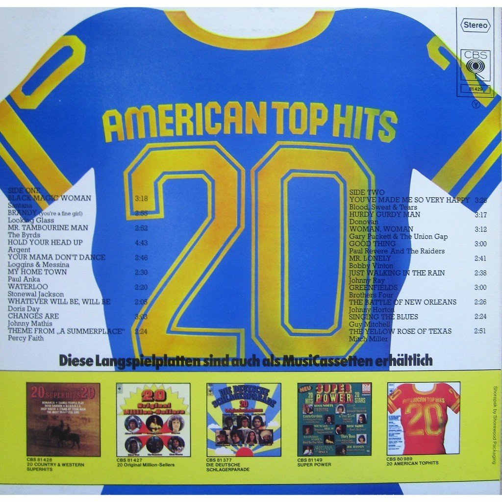 divers artistes - various artist 20 american top hits - vol. 2