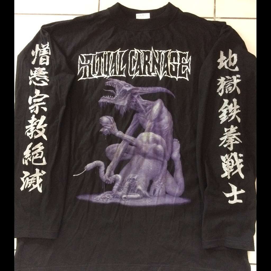 RITUAL CARNAGE Succomb To The Beast. XL Size Longsleeves TS