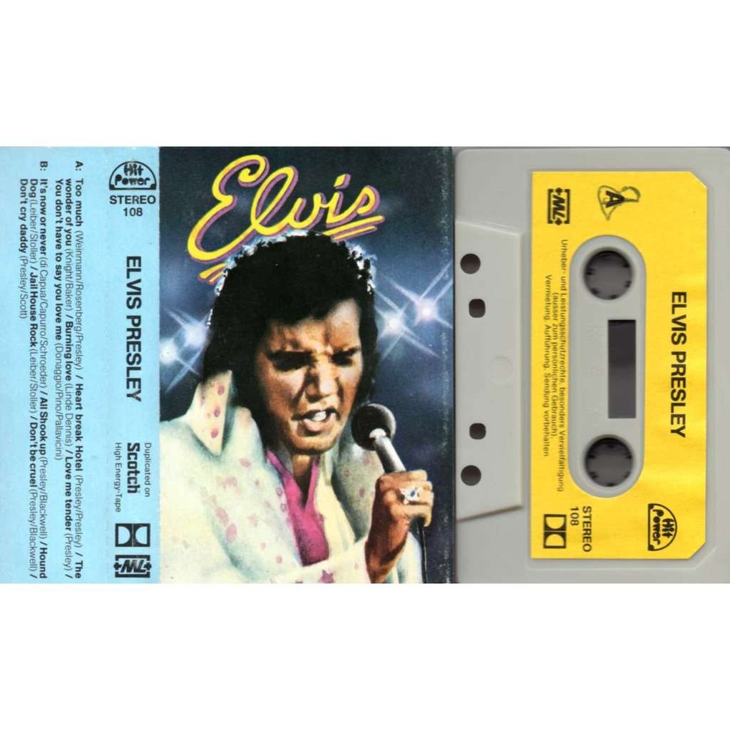 Elvis Presley too much / heart breack hotel / It's now or nevers / don't cruel / Don't cry daddy 12 titres