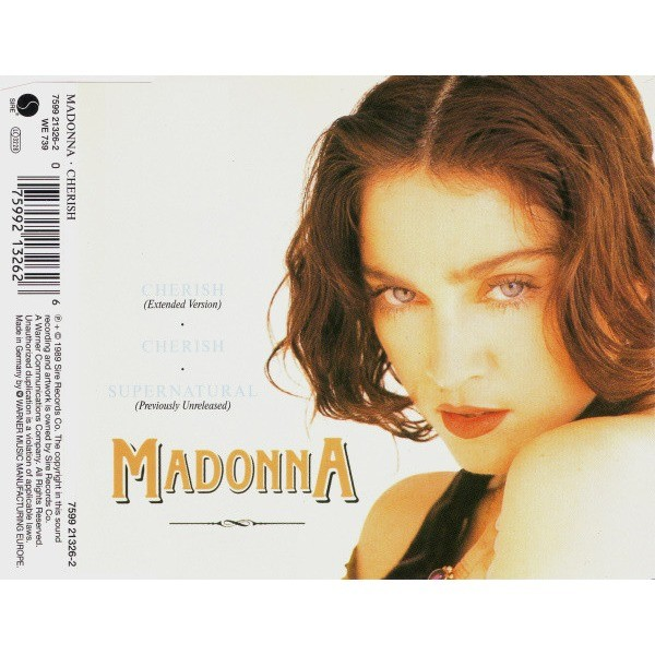 Cherish (extended version)/cherish/supernatural (previously unreleased) by  Madonna, CDS with cipaux76