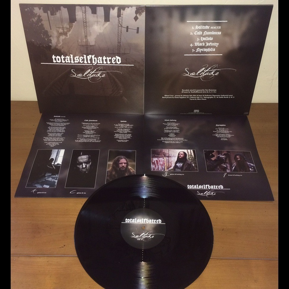TOTALSELFHATRED Solitude. Black Vinyl