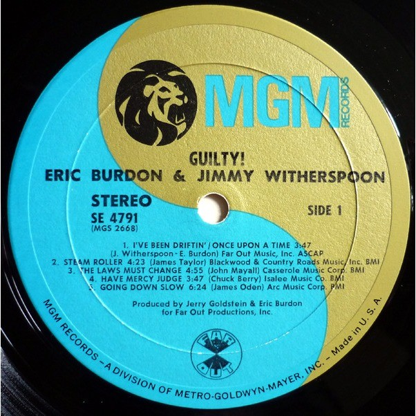 Eric Burdon & Jimmy Witherspoon Guilty !
