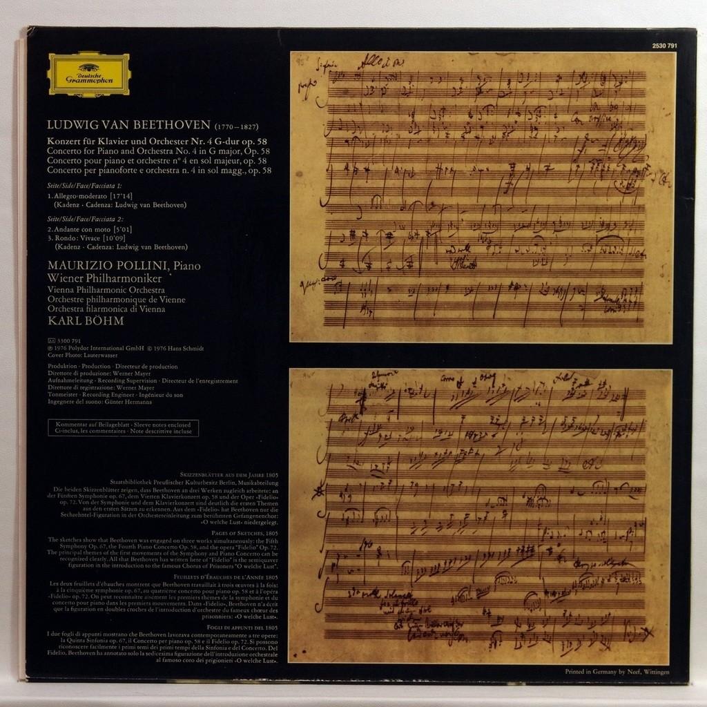 maurizio pollini Beethoven : Piano concerto no.4