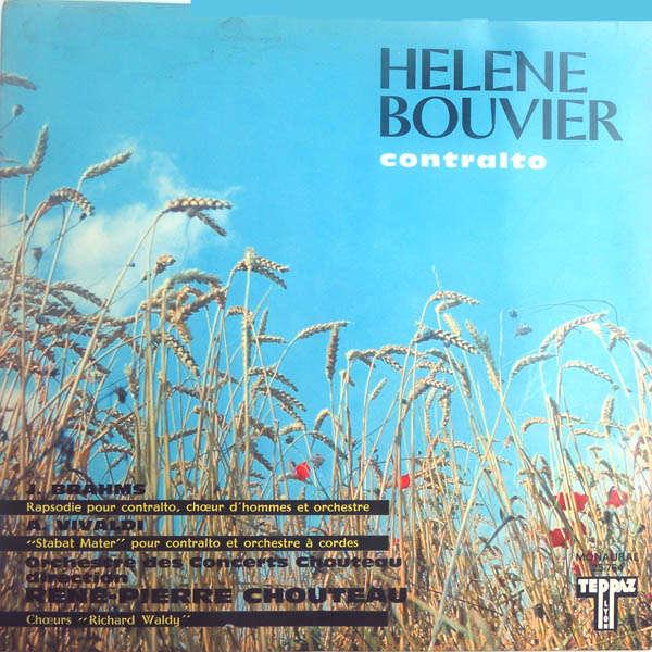 Hélène Bouvier, contralto; René-Pierre Chouteau Brahms, Vivaldi