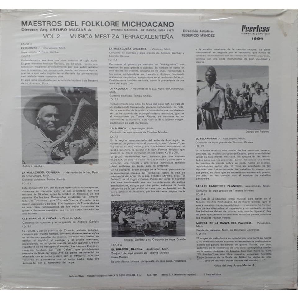 Various Artists Maestro Del Folklore Michoacano Vol 2