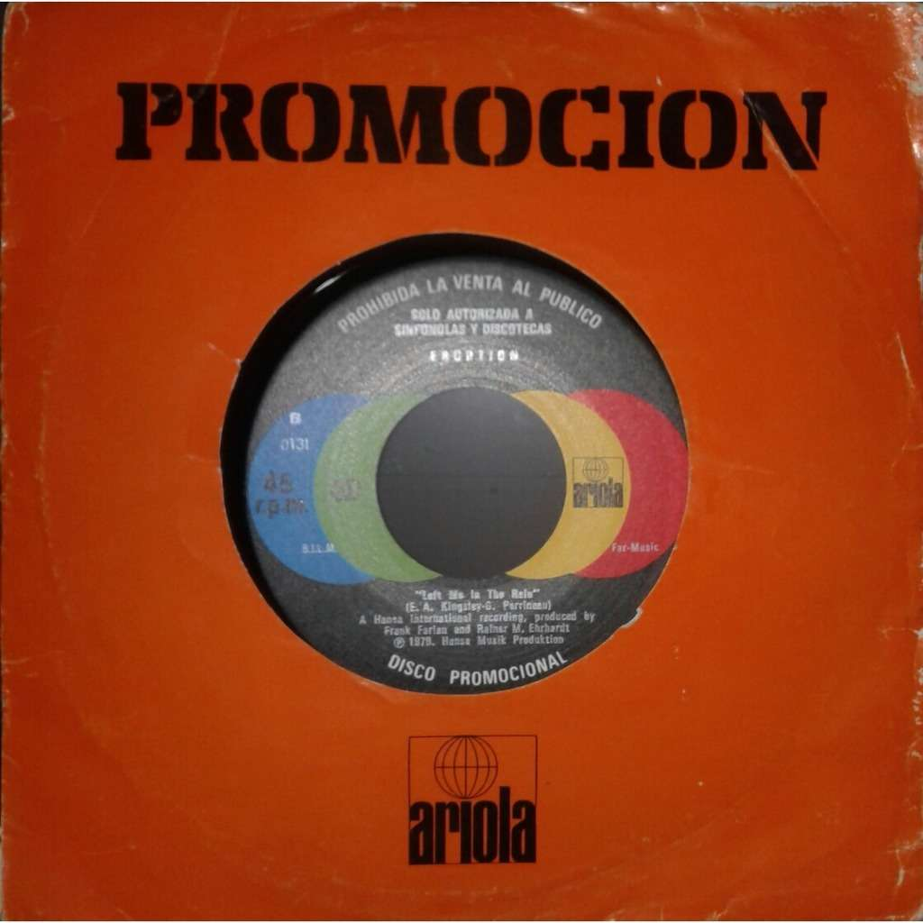 Eruption (Funk-PROMOTION ) Let Me Take You Back In Time/ One Way Ticket