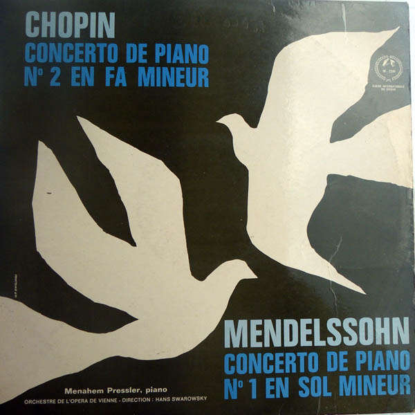 Menahem Pressler Chopin - Mendelssohn