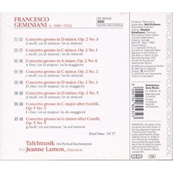 Francesco Geminiani / Jeanne Lamon Concerti Grossi