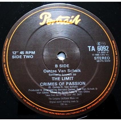 OATTES VAN SCHAIK / the limit love attaxx / crimes of passion