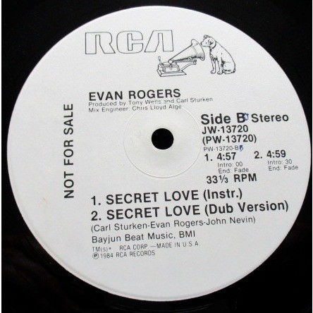 Evan Rogers - Secret Love Evan Rogers - Secret Love