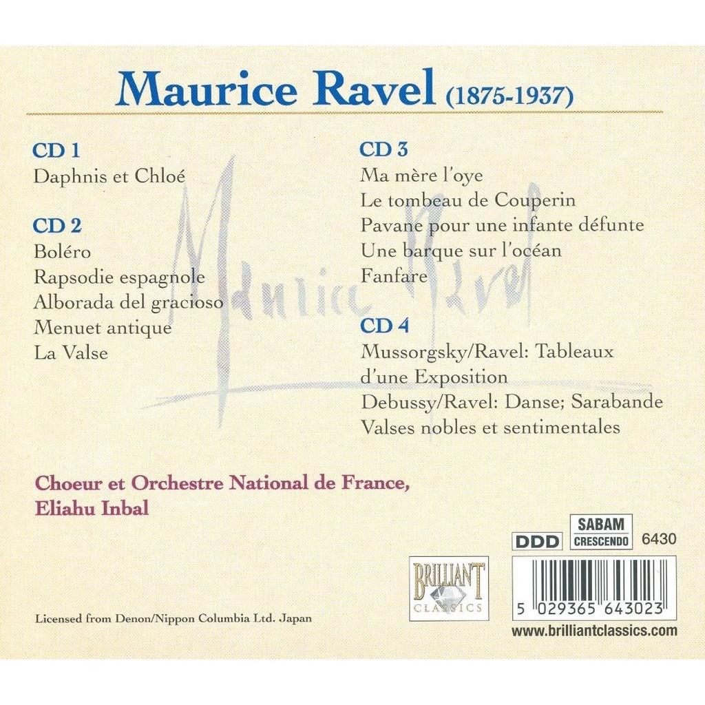 Ravel, Maurice Complete Orchestral Works / Choeur et Orchestre National de France, Eliahu Inbal