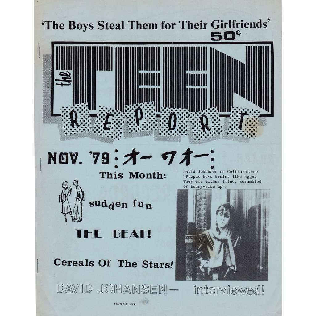 david johansen / NY Dolls The Teen Report Nov. 1979
