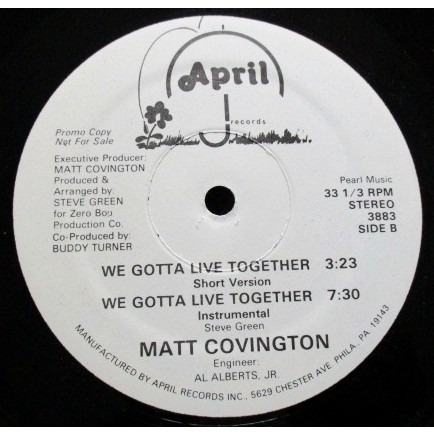 MATT COVINGTON we gotta live together