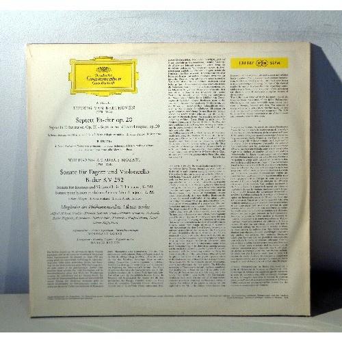 BERLIN OKTETTS & HEINRICH MAJOWSKY & MANFRED BRAUN BEETHOVEN Septett, op.20 MOZART Sonate fur fagott und violoncello