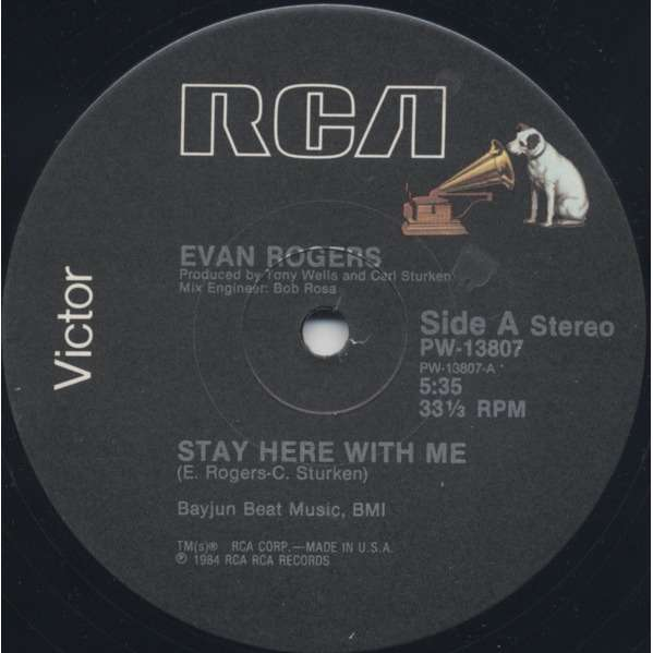 Evan Rogers - Stay Here With Me (12) Evan Rogers - Stay Here With Me (12)