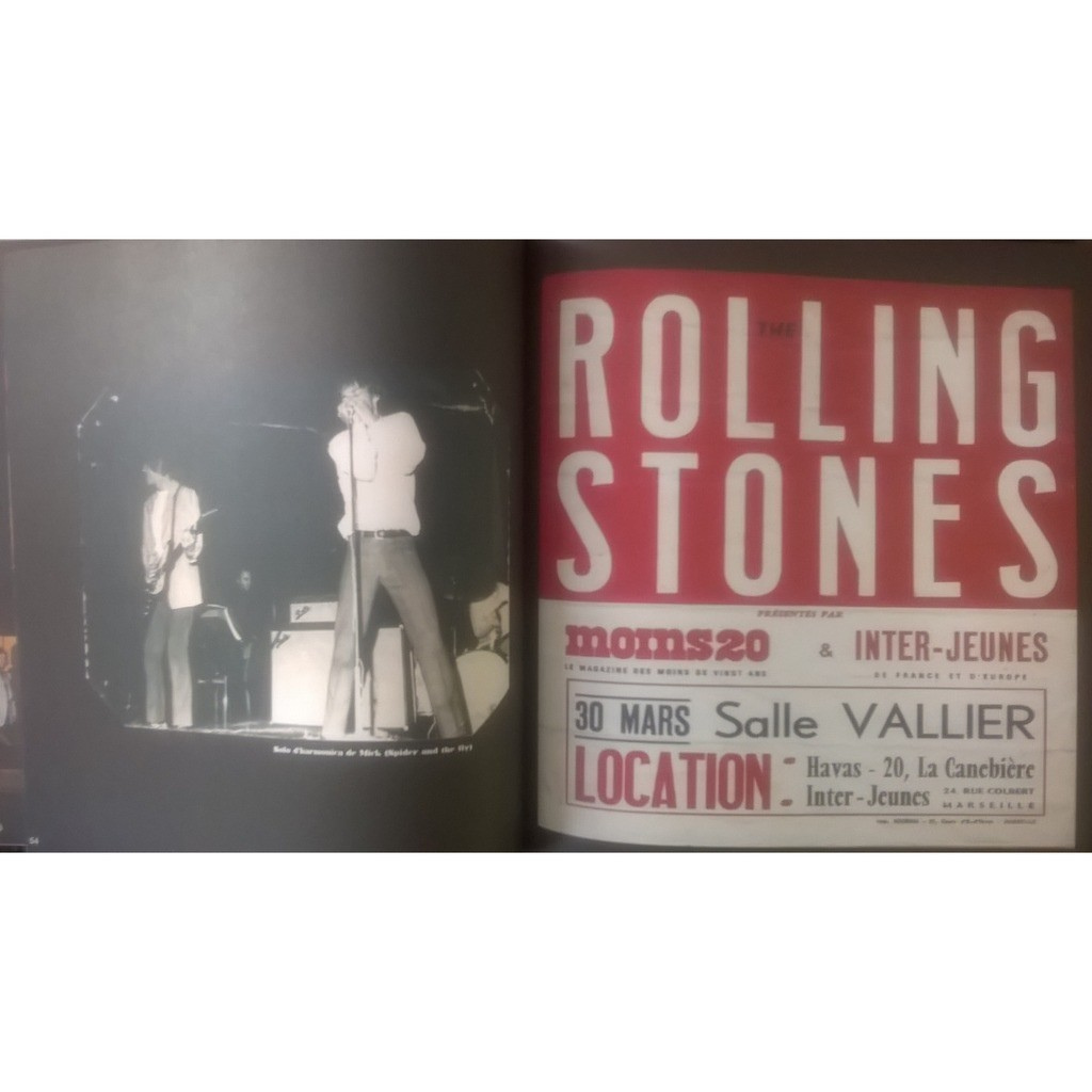 THE ROLLING STONES TOURNEE 1966 BRUXELLES PARIS MARSEILLE LYON