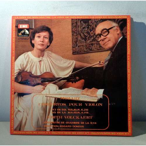 EDITH VOLCKAERT & EDGARD DONEUX MOZART concertos pour violon n°3 & 5  numeroted limited press