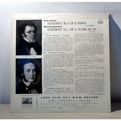 GUIDO CANTELLI SCHUBERT Symphony n°8 MENDELSSOHN Symphony n°4
