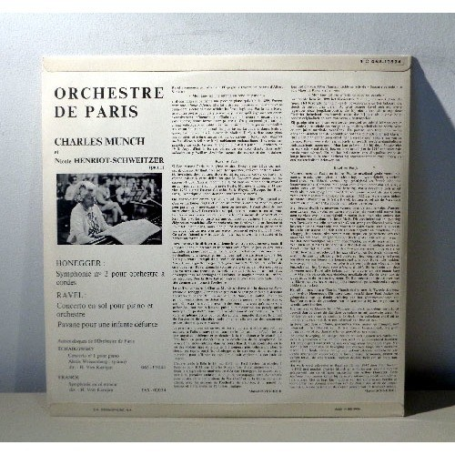 CHARLES MUNCH & NICOLE HENRIOT SCHWEITZER HONEGGER symphonie n°2 & RAVEL concerto en sol - pavane