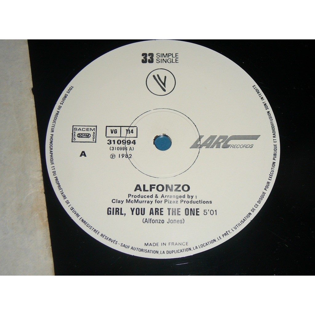 ALFONZO girl you are the one / low down
