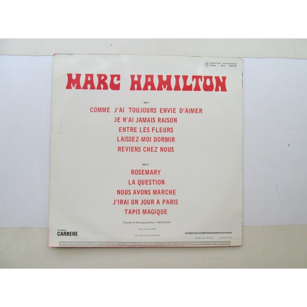 Marc Hamilton Comme J'Ai Toujours Envie D'Aimer
