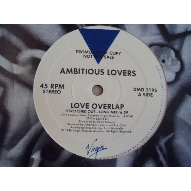 AMBITIOUS LOVERS LOVE OVERLAP (STRETCHED OUT LONG MIX 6'39) 1988 USA PROMO COPY (MAXIBOXLP)