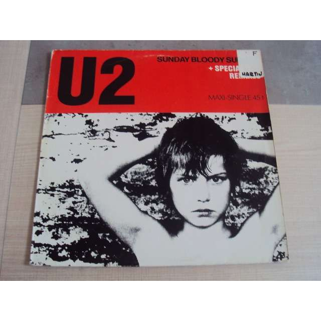 U2 Sunday Bloody Sunday / New year's day (Remix) / Two heart's beat as one 1983 GERMANY (MAXIBOXLP)