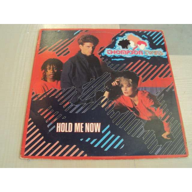 thompson twins HOLD ME NOW (EXTENDED VERSION) 1983 USA PROMO COPY (MAXIBOXLP)