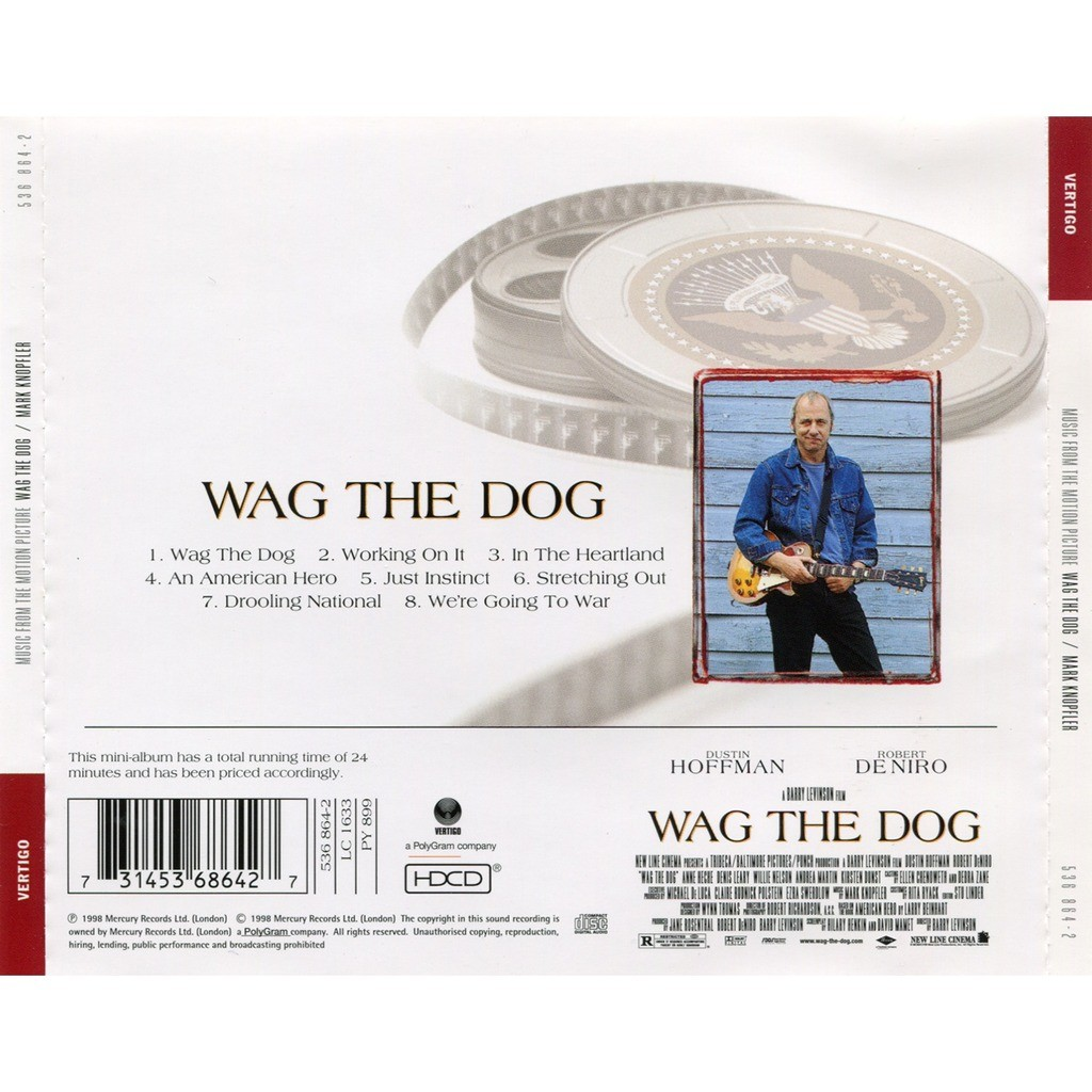 Wag the dog (music from the motion picture) by Mark Knopfler, CD with  solarfire