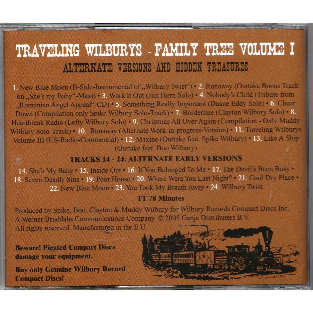Beatles / George Harrison / Traveling Wilburys Family Tree Volume I - The Trail Goes In Forever (Alternate Version & Hidden Treasures)