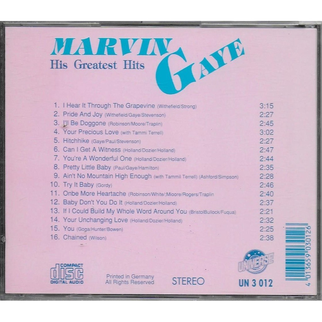 Marvin Gaye His Greatest Hits