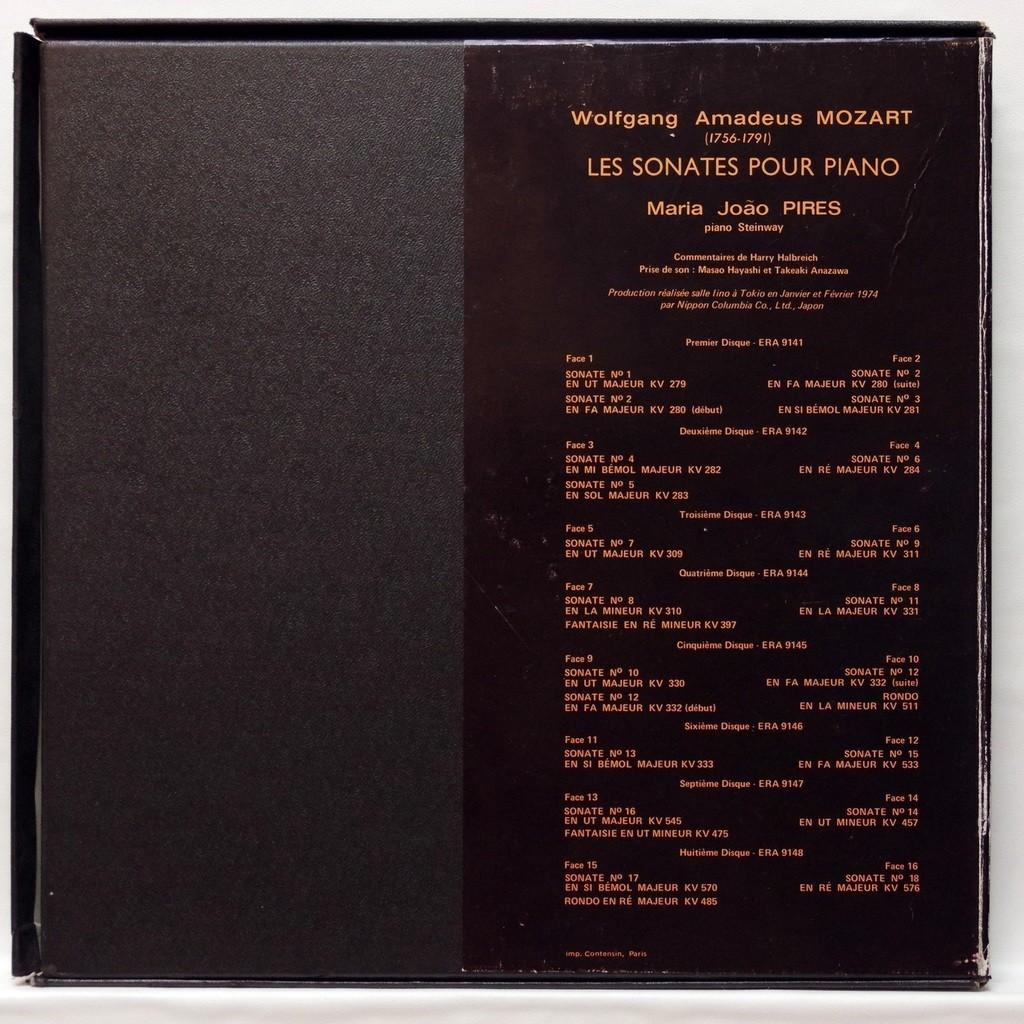 Maria Joao Pires Mozart : The piano sonatas
