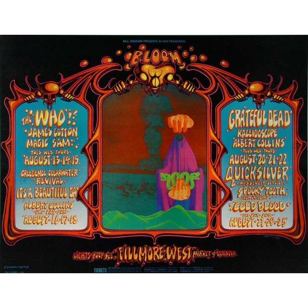 The Who The Who/ Grateful Dead/Quicksilver Messenger Service/It's A beautiful day Poster