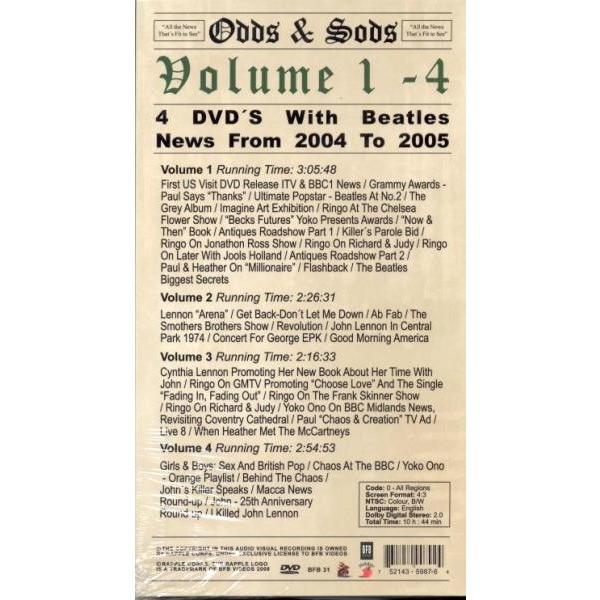 Beatles Odds & Sods Vol.1-4 (4DVD Long Box)
