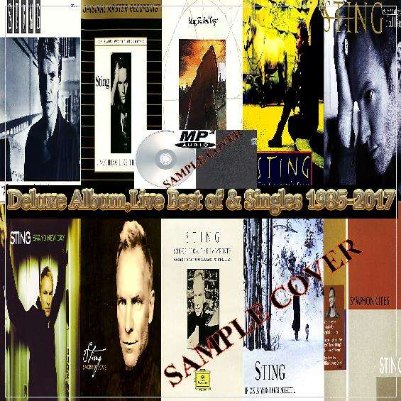 sting Deluxe Album,Live Best of & Singles 1985-2017 (6CD MP3)