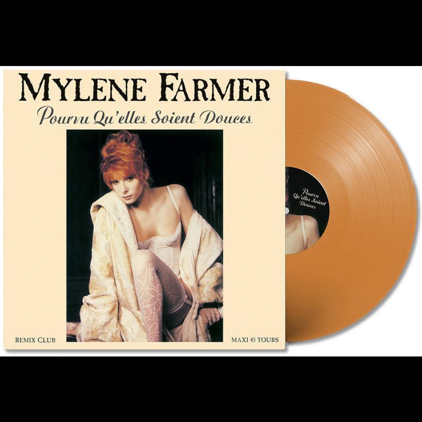 Mylène Farmer Pourvu Qu'elles Soient Douces - Edition limitée à 300ex - Vinyle orange