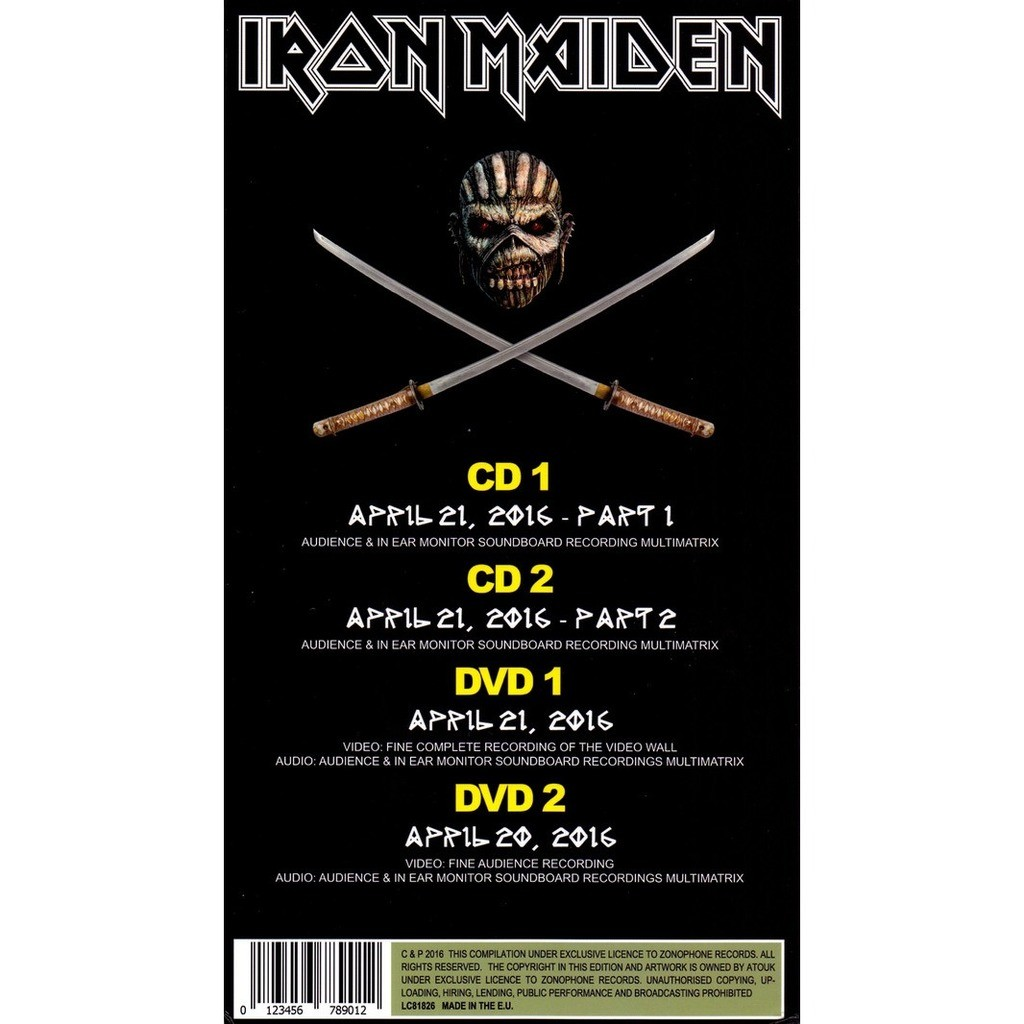 Iron Maiden - The Live Legacy Of The Beast (Tokyo Complete 2016) 2CD + 2DVD Long Box