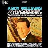 Andy Williams The Academy Award Winning Call Me Irresponsible And Other Hit  Songs From The Movies