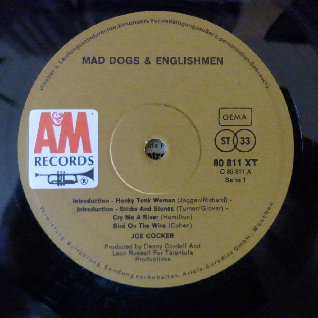 Mad Dogs And Englishmen By Joe Cocker Double Lp Gatefold With Dog Wiring Diagram